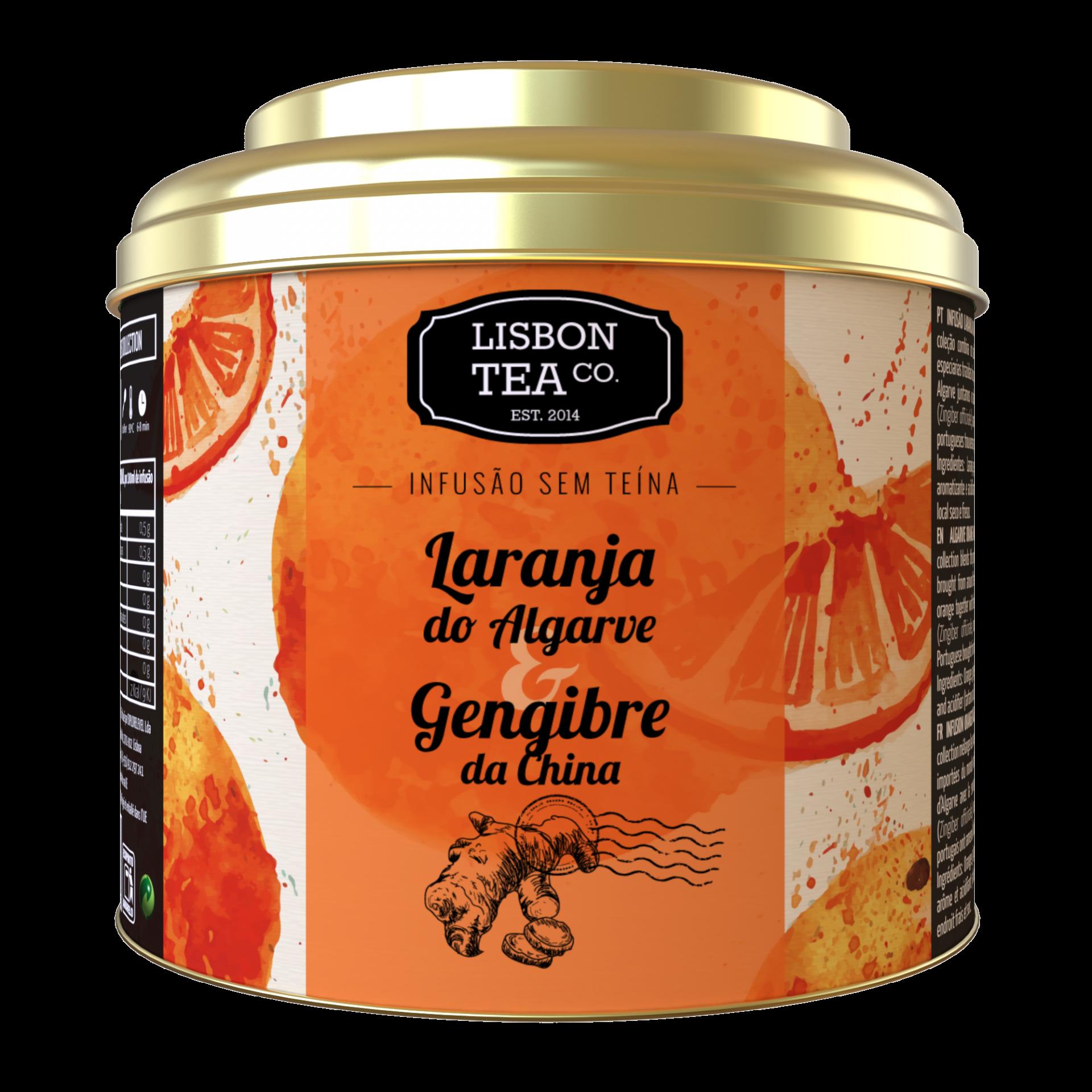 Lisbon Tea Laranja & Gengibre Infusão