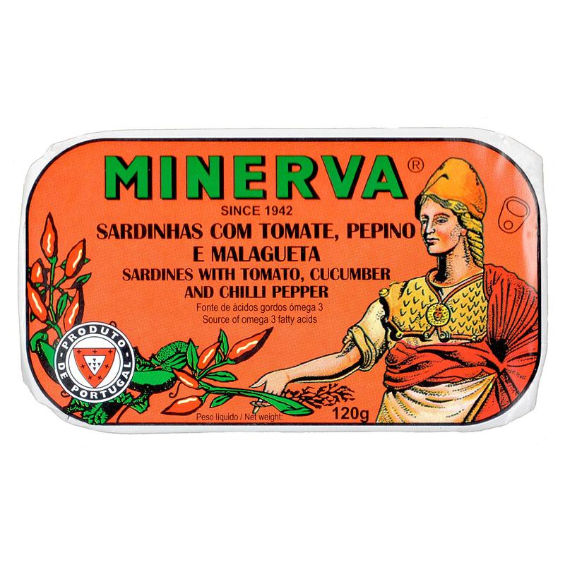 Minerva Sardinhas em Tomate Picante com Pepino Conservas