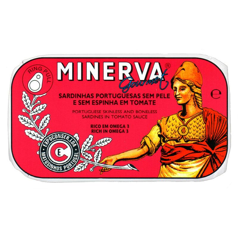 Minerva Sardinhas Sem Pele e Sem Espinhas em Tomate Conservas