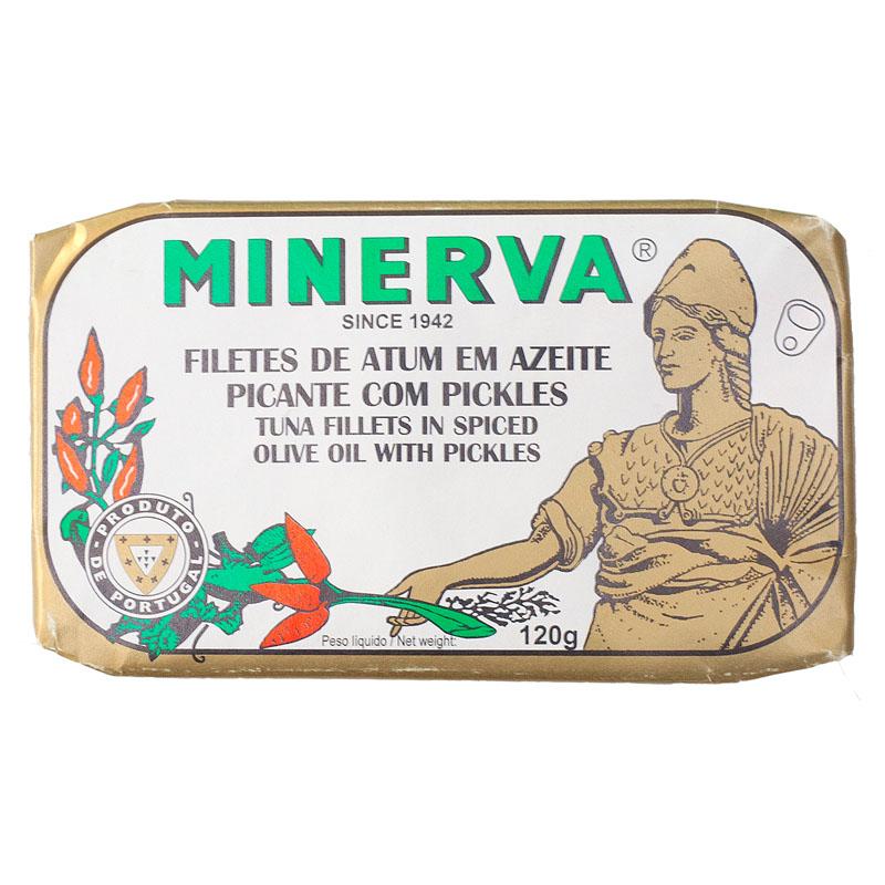 Minerva Filetes de Atum em Azeite Picante com Pickles Conservas