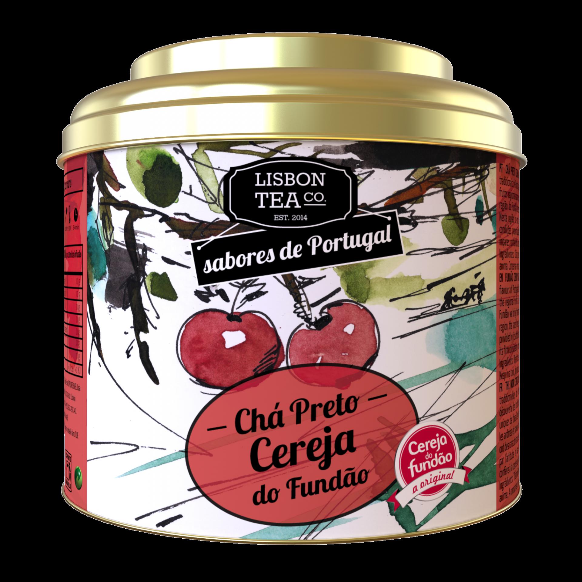 Lisbon Tea Preto Cereja Chá