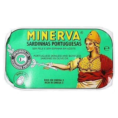 Minerva Sardinhas Sem Pele e Sem Espinhas em Azeite Conservas