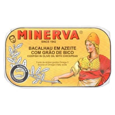 Minerva Bacalhau em Azeite com Grão-de-Bico Conservas