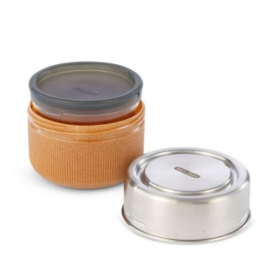 Black Blum Glass Lunch Pot Utensílios