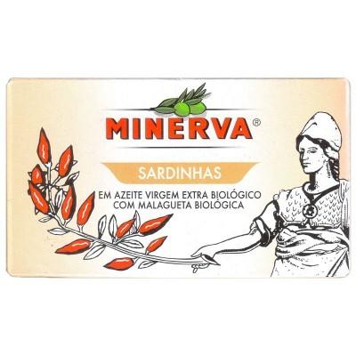 Minerva Sardinhas em Azeite Virgem Extra Biológico Picante Conservas