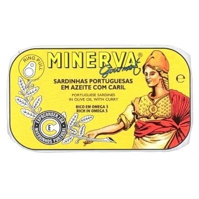 Minerva Sardinhas em Azeite com Caril  Conservas