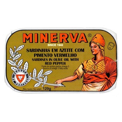 Minerva Sardinhas em Azeite com Pimento Vermelho Conservas