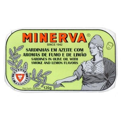 Minerva Sardinhas Fumadas em Azeite com Limão Conservas