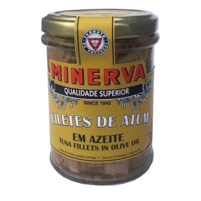 Minerva Filetes de Atum em Azeite Frasco Conservas