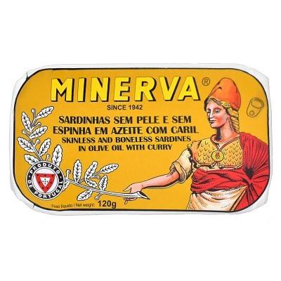 Minerva Sardinhas sem Pele e sem Espinhas em Azeite com Caril Conservas