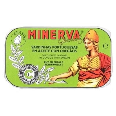 Minerva Sardinhas em Azeite com Orégãos  Conservas