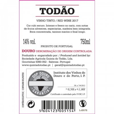 Todão 2017 Vinho Tinto Douro DOC