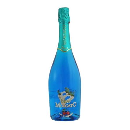 Blue Moscato Wild Cherry, sparkling.