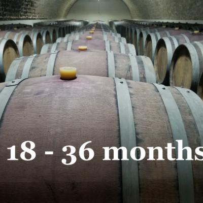 De 18 a 36 meses de barrique