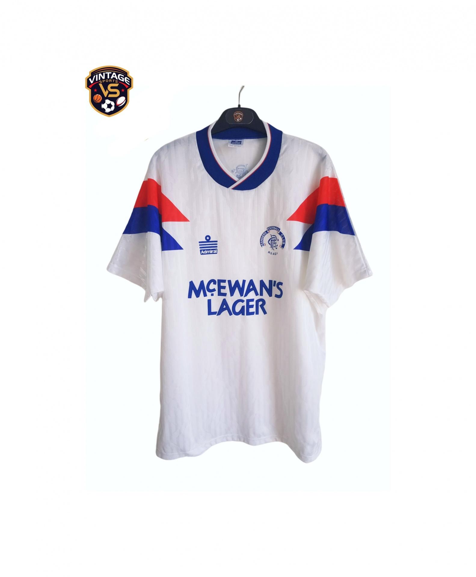 Glasgow Rangers FC Away Shirt 1990-1992 (L) Admiral Jersey | VS Vintage Classic Football Shirts Jerseys Clothing Futebol