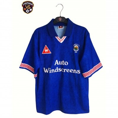 "Linfield FC Home Shirt 1996-1997 #10 McBride (M) ""Very Good"""