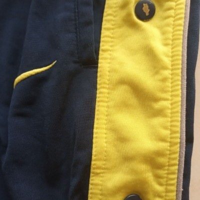 "Vintage Full Tracksuit Nike Blue Yellow Popper Pants (XL) ""Good"""