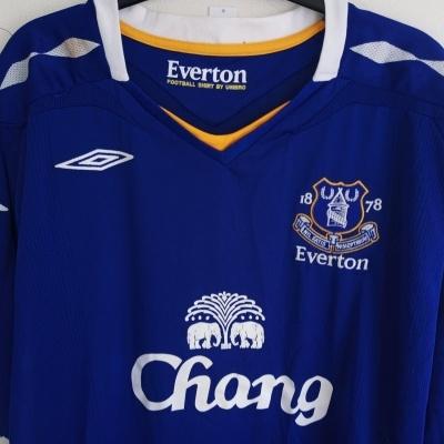 NEW Everton FC Home Shirt 2007-2008 #3 Rooney (XL)