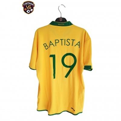 "Brazil Home Shirt 2006 #19 Julio Baptista (L) ""Very Good"""