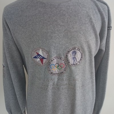 "Vintage Adidas Sweatshirt Olympic Centennial Collection 1960 (L) ""Very Good"""
