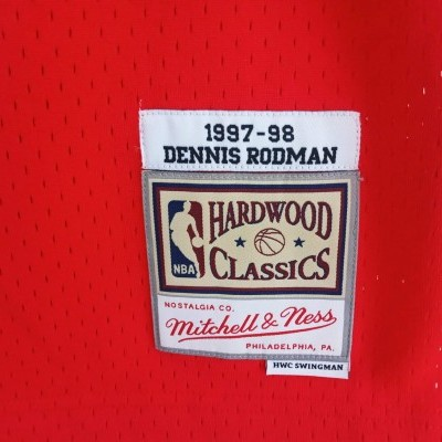 "Chicago Bulls NBA Swingman Jersey #91 Rodman (S) ""Perfect"""