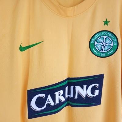 """Celtic FC Away Shirt 2008-2009 #7 (L) """"Very Good"""""""