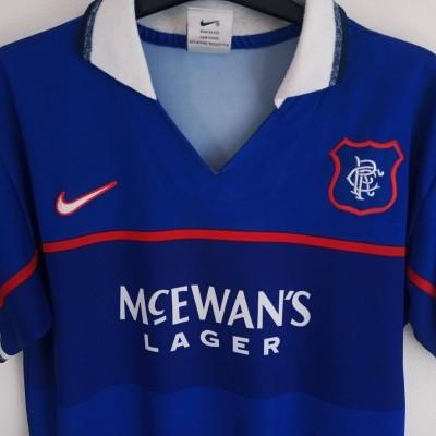 "Glasgow Rangers FC Home Shirt 1997-1999 (L Youths) ""Good"""