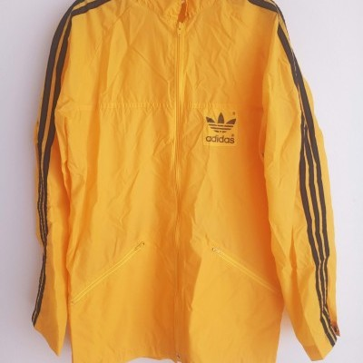"Vintage Adidas Windbreaker Rain Jacket Yellow (XS) ""Good"""