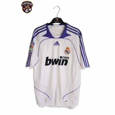 """Real Madrid Home Shirt 2007-2008 (M) """"Perfect"""""""
