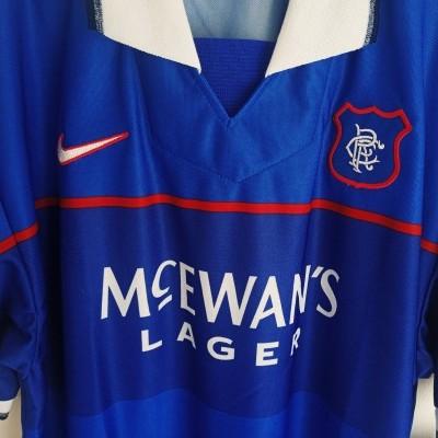 NEW Glasgow Rangers FC Home Shirt 1997-1999 (L)
