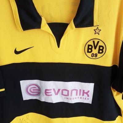 "Signed BVB Borussia Dortmund Home Shirt 2007-2008 #10 Petric (L) ""Good"""
