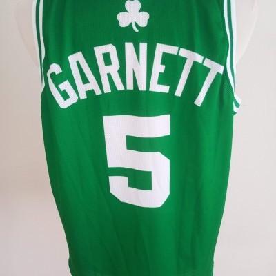 "Boston Celtics Home NBA Shirt #5 Garnett (L) ""Very Good"""