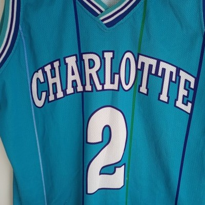 "Charlotte Hornets NBA Jersey #2 Larry Johnson (XL) ""Good"""