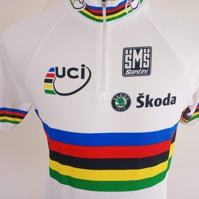 "UCI Road World Champions Cycling Shirt Skoda (XL) ""Very Good"""