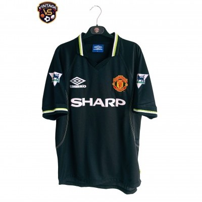 """Manchester United Third Shirt 1998-1999 #9 Cole (M) """"Very Good"""""""