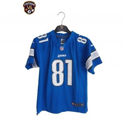 "Detroit Lions NFL Jersey #81 Johnson (M Youhts) ""Very Good"""