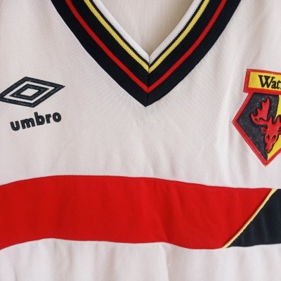 "Watford FC Away Shirt 1985-1988 (S) ""Good"""