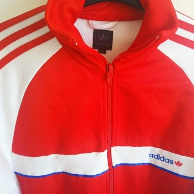 "Track Top Jacket Adidas Red White (M) ""Very Good"""