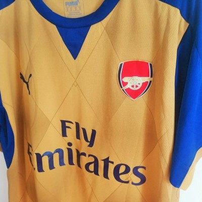 "Arsenal FC Away Shirt 2015-2016 #15 Chamberlain (M) ""Very Good"""