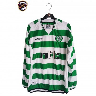 "Celtic Glasgow FC Home Shirt L/S 2001-2002 (M) ""Very Good"""