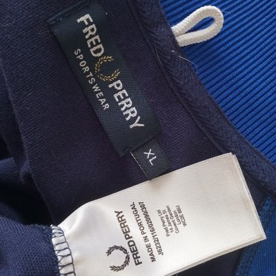 """Fred Perry Track Top Jacket Blue (XL) """"Very Good"""""""