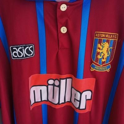 "Aston Villa FC Home Shirt 1993-1995 (XL) ""Good"""