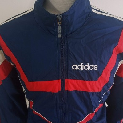 """Vintage Track Top Jacket Adidas Blue Red (L) """"Good Condition"""""""
