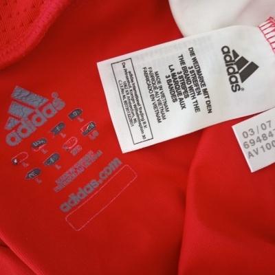 "SL Benfica Home Shirt L/S 2007-2008 (L) ""Good"""