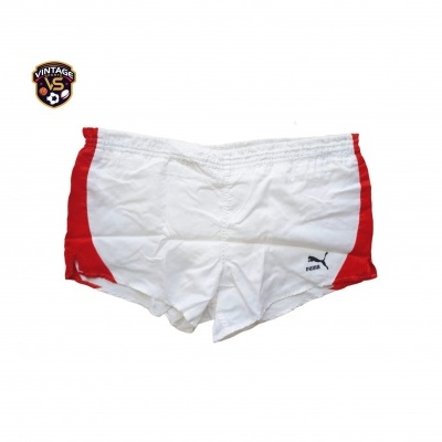 "Vintage Shorts Puma 1980s White Red (L - D7) ""Average"""