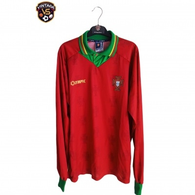 "Matchworn Portugal Home Shirt 1995 #9 Sa Pinto (XL) ""Very Good"""
