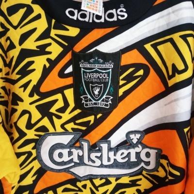 """Liverpool FC Goalkeeper Shirt 1995-1996 (XL) """"Good"""""""
