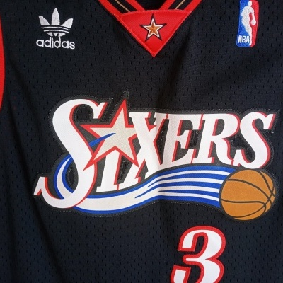 """Philadelphia 76ers Sixers NBA Jersey #3 Iverson (Youths) """"Very Good"""""""