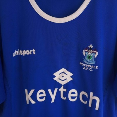 "Signed Rochdale AFC Home Shirt 2004-2005 (S) ""Good"""