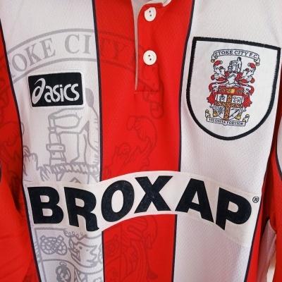 "Stoke City FC Home Shirt 1996-1997 (L) ""Very Good"""